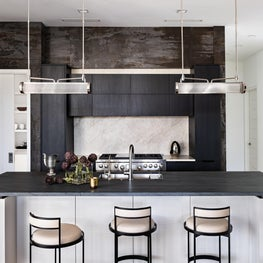 Modern Kitchen with Linear Pendants