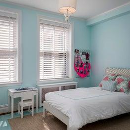 Upper West Side Residence Blue Bedroom