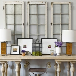 Brynn Olson Design Group - Lincoln Park Brownstone - Family Room Console + Art