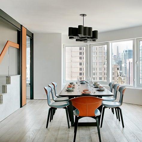 Dining area at CitySpire duplex