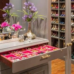 Closet Detail: Jewelry Drawers