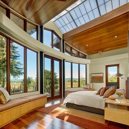 Master bedroom with vineyard views.