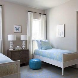 Whimsical White and Blue Kids Bedroom - Spanish Oaks Residence, Austin, TX
