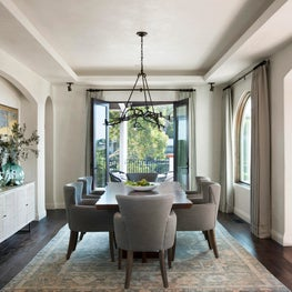 La Jolla dining room with branch fixture