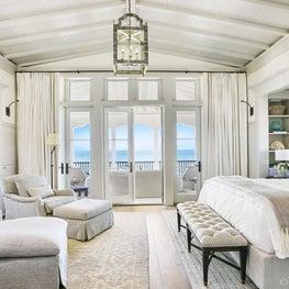 Seaside gray transitional Master Bedroom