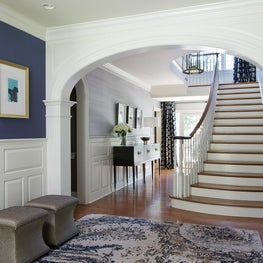 New Traditional Home. Formal Entry Hall.