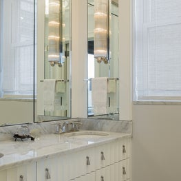 Transitional Riverside Drive Renovation, Bathroom