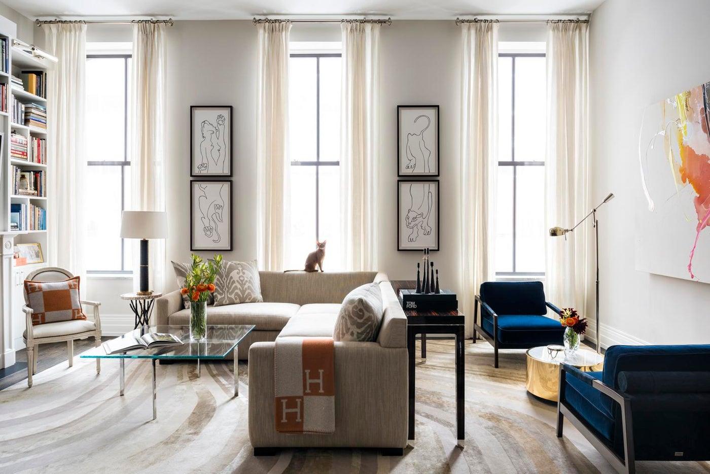 Living Room in Tribeca Loft
