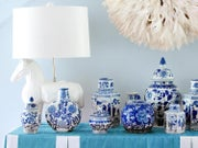 Image of Blue & White Accents