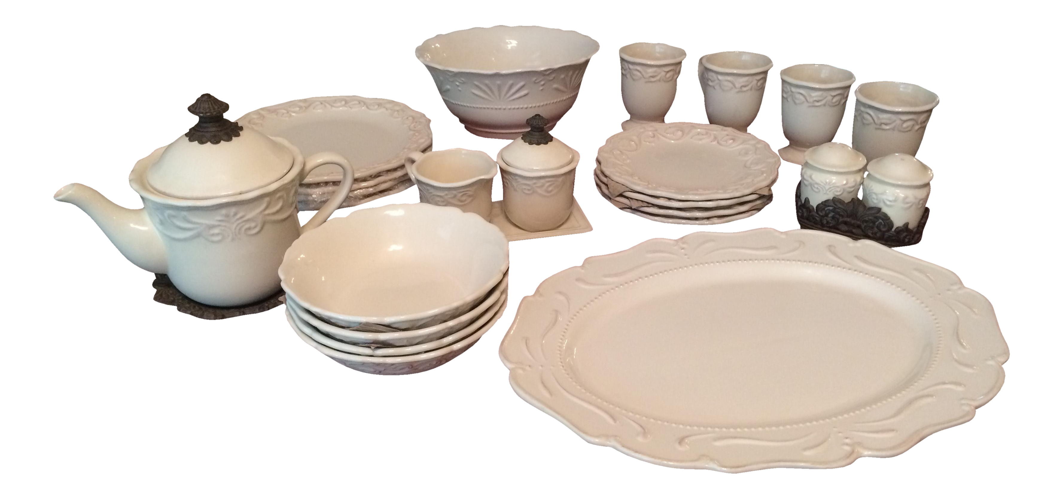 sc 1 st  Chairish & Chris Madden Corvella Ivory Tableware | Chairish