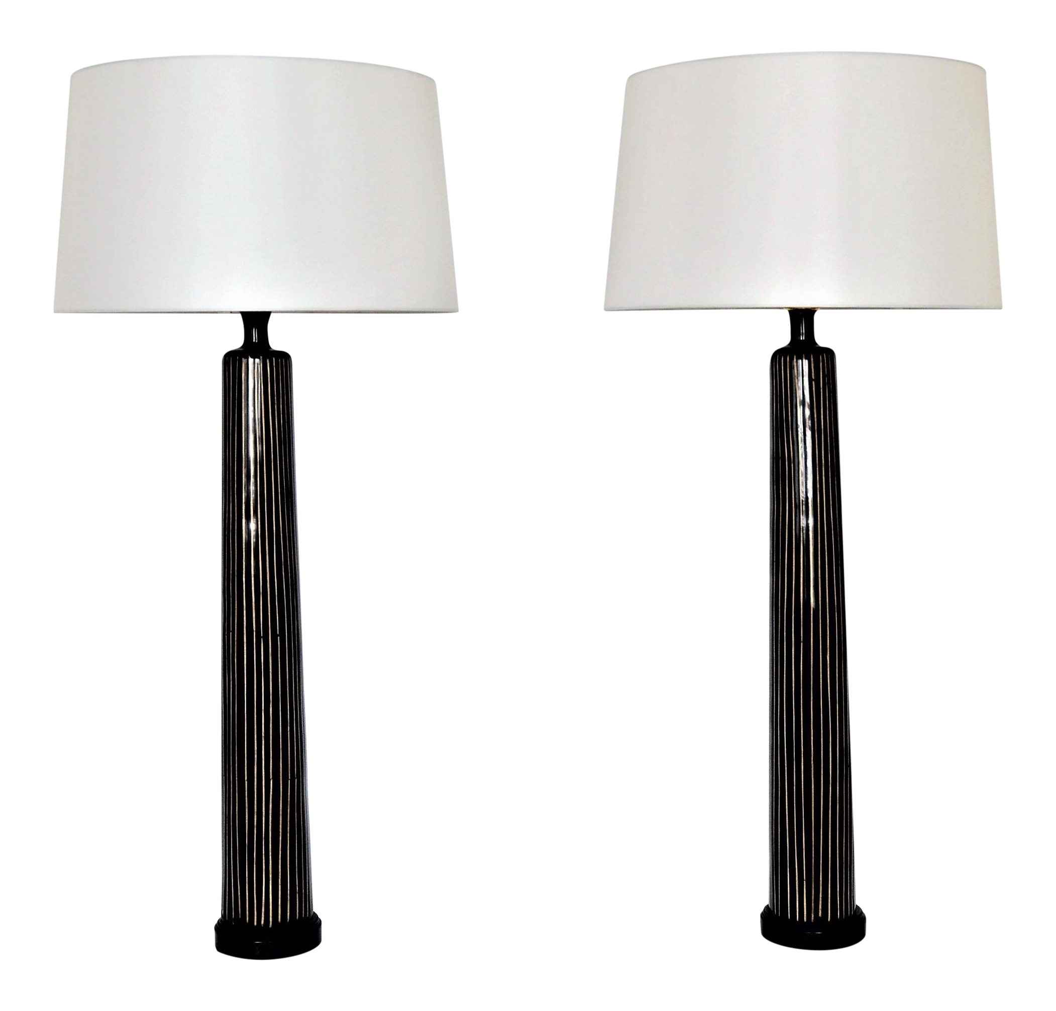 Merveilleux Large U0026 Tall Allison K. West For Thumbprints Contemporary Bamboo U0026 Black  Table Lamps Mid Century Modern Oggetti Augousti Style MCM   A Pair  Millennial | ...