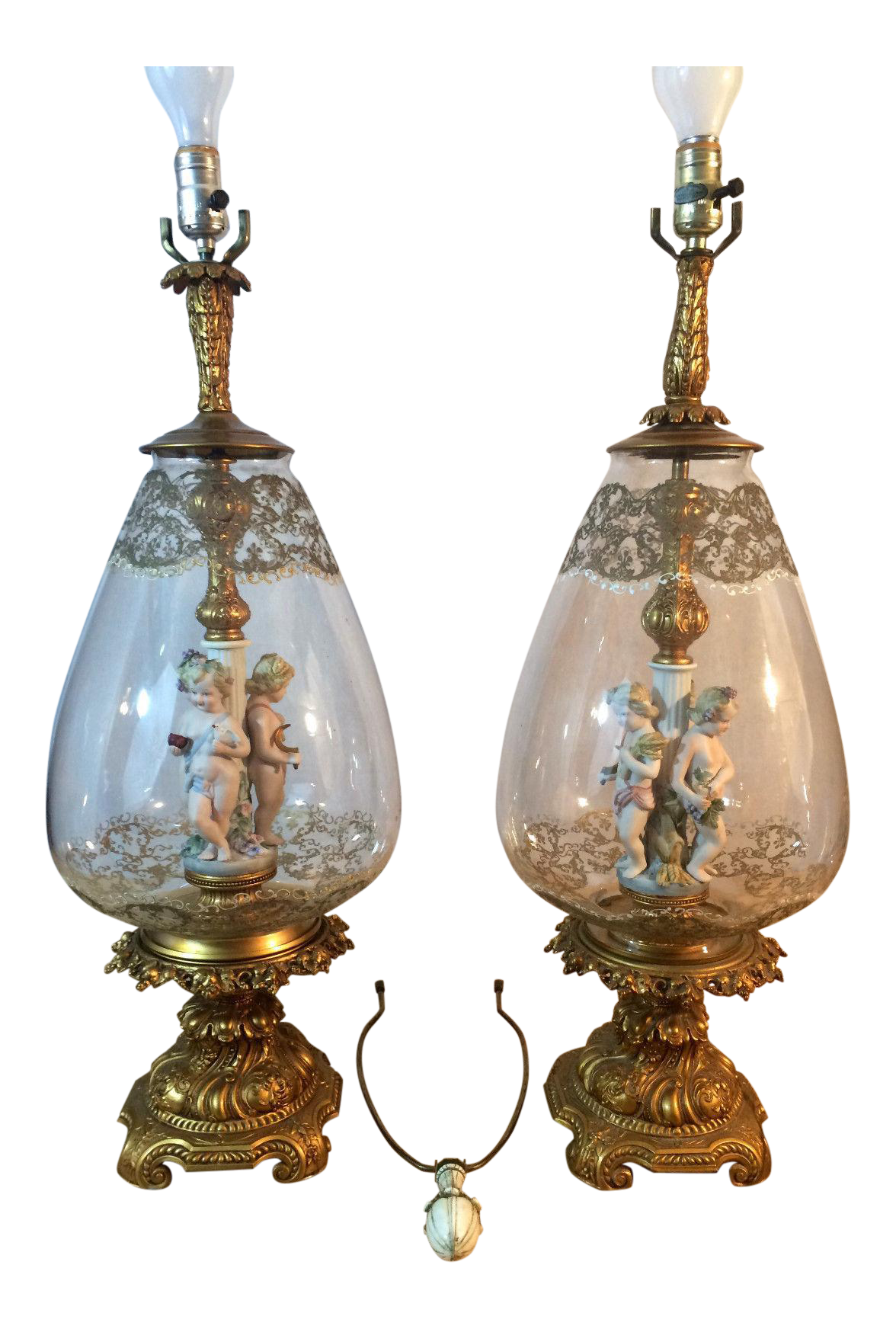 brass with light ball p crystal lights visual comfort antique sconce single