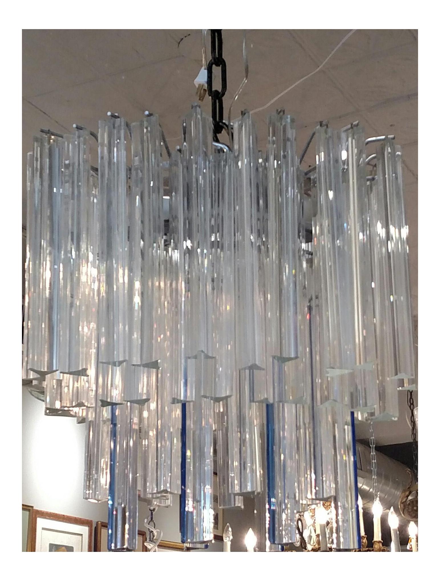Mid century modern italian venetian crystal glass venini murano mid century modern italian venetian crystal glass venini murano chandelier chairish arubaitofo Gallery