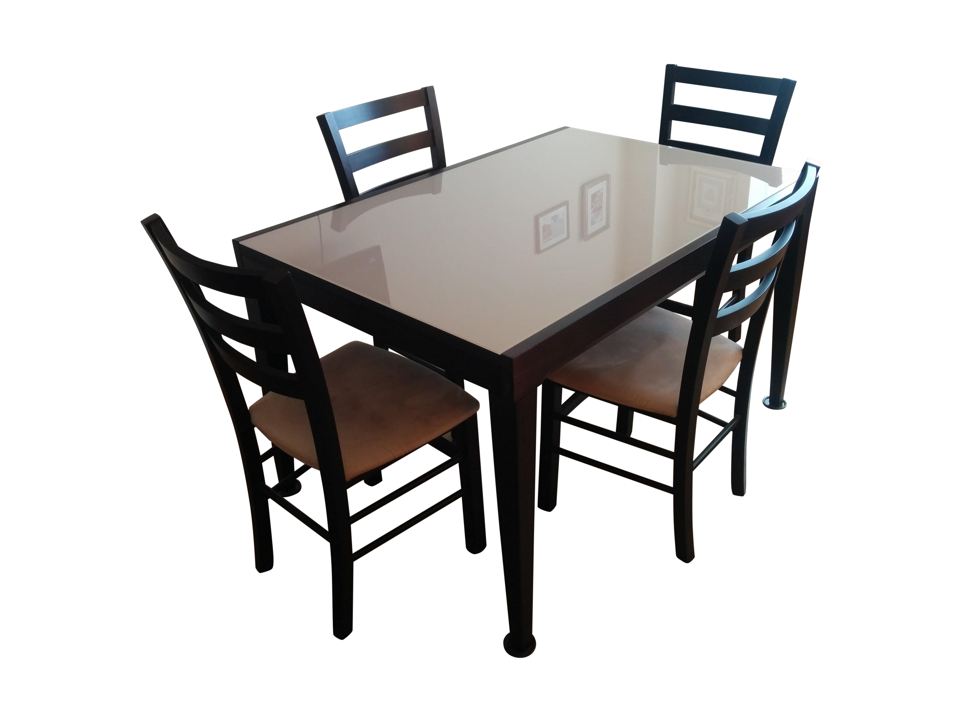 Macy s Café Latte Glass Top Dining Set