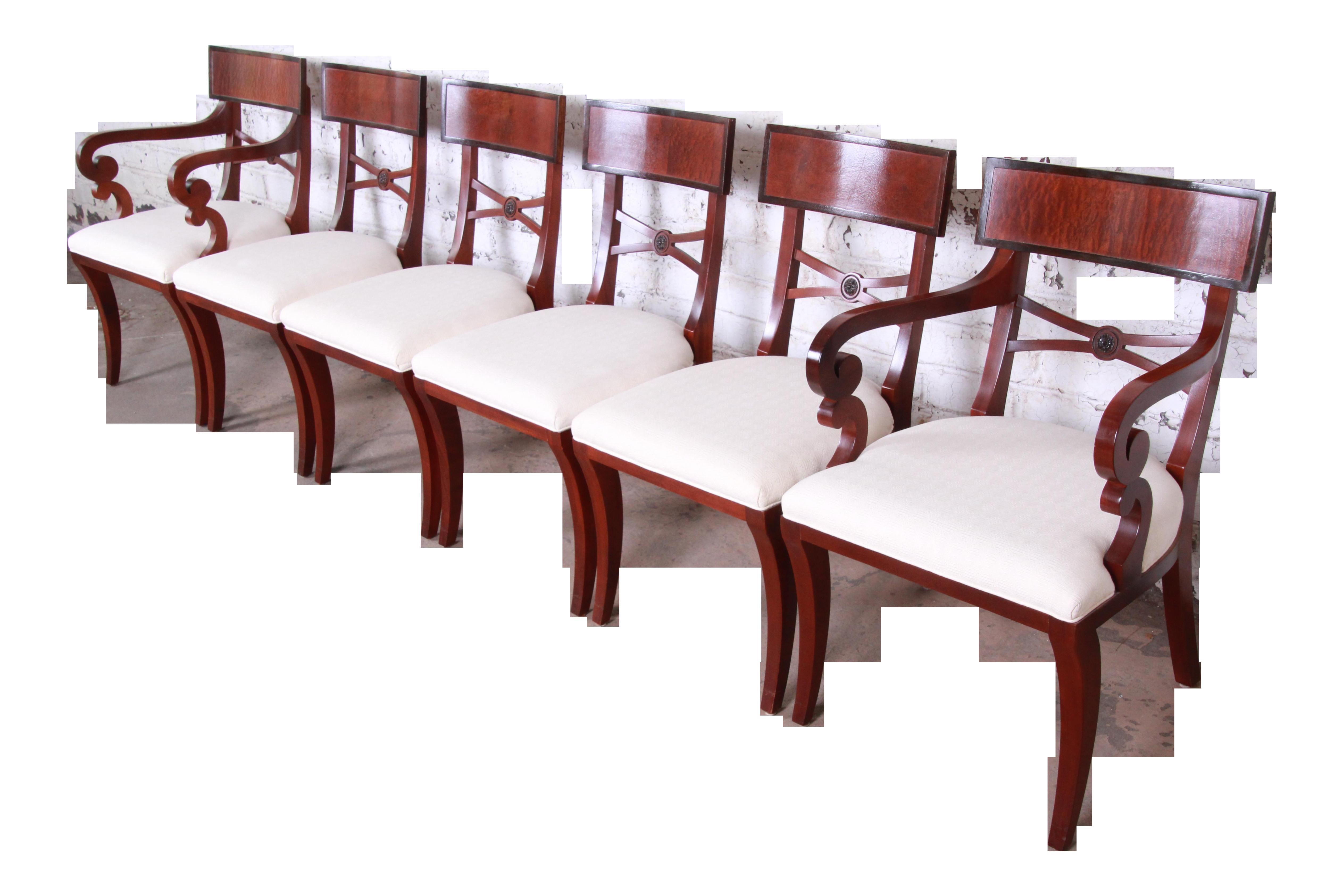 Cool Baker Furniture Regency Mahogany Dining Chairs Set Of 6 Evergreenethics Interior Chair Design Evergreenethicsorg