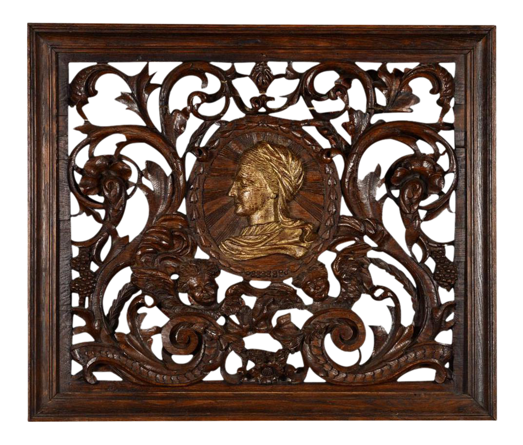 Excellent antique rococo carved wood wall panel decaso jeuxipadfo Image collections