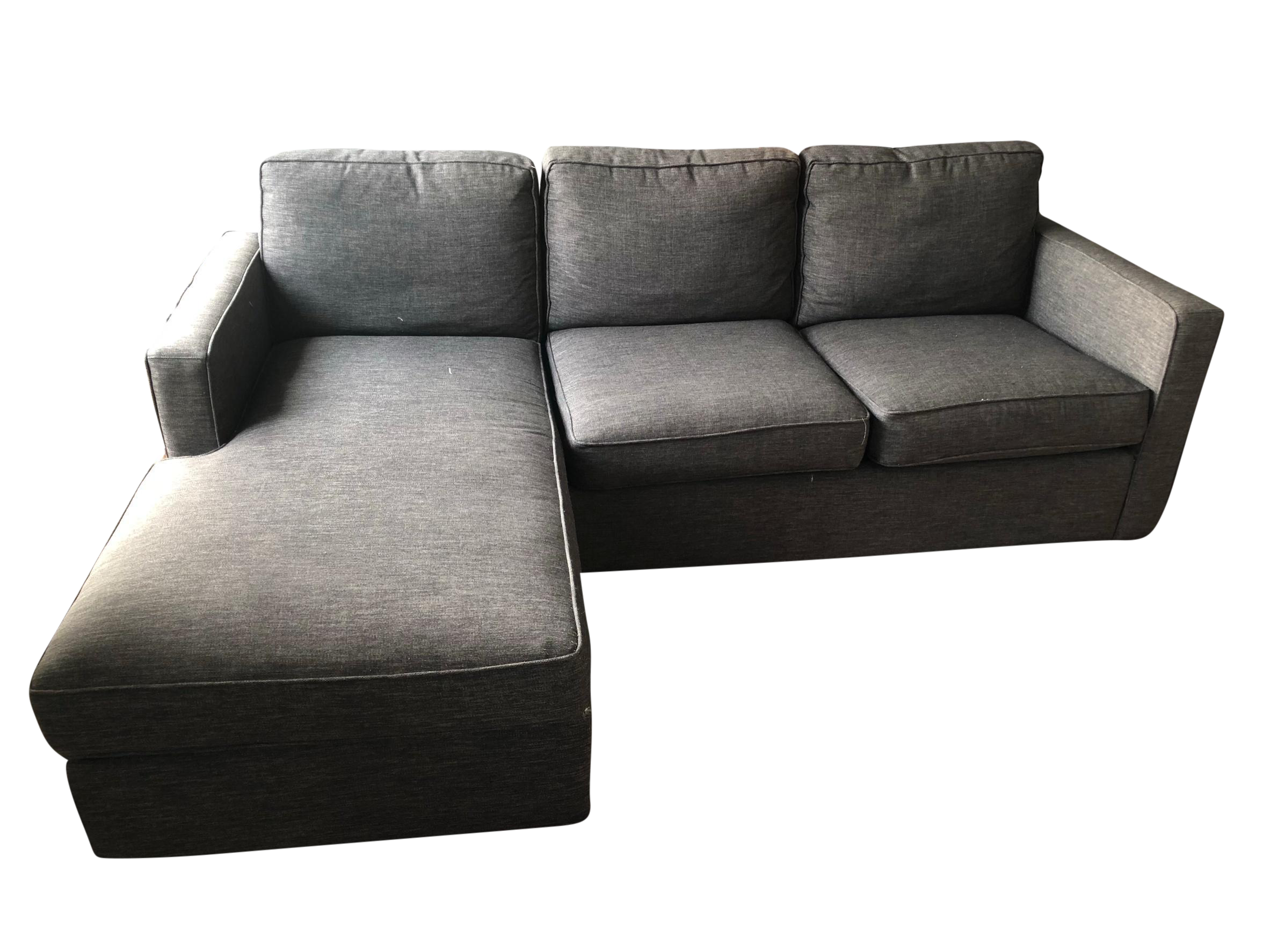 Crate barrel lounge ii petite 2 piece sectional sofa chairish