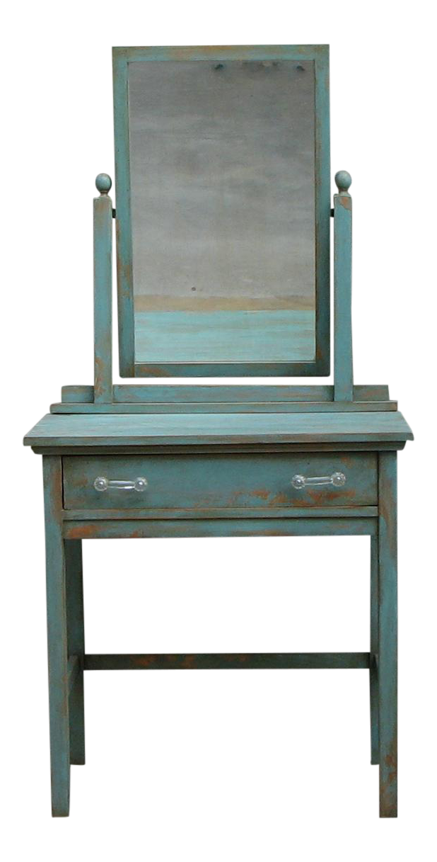 1930s Vintage Vanity Desk With Mirror Chairish