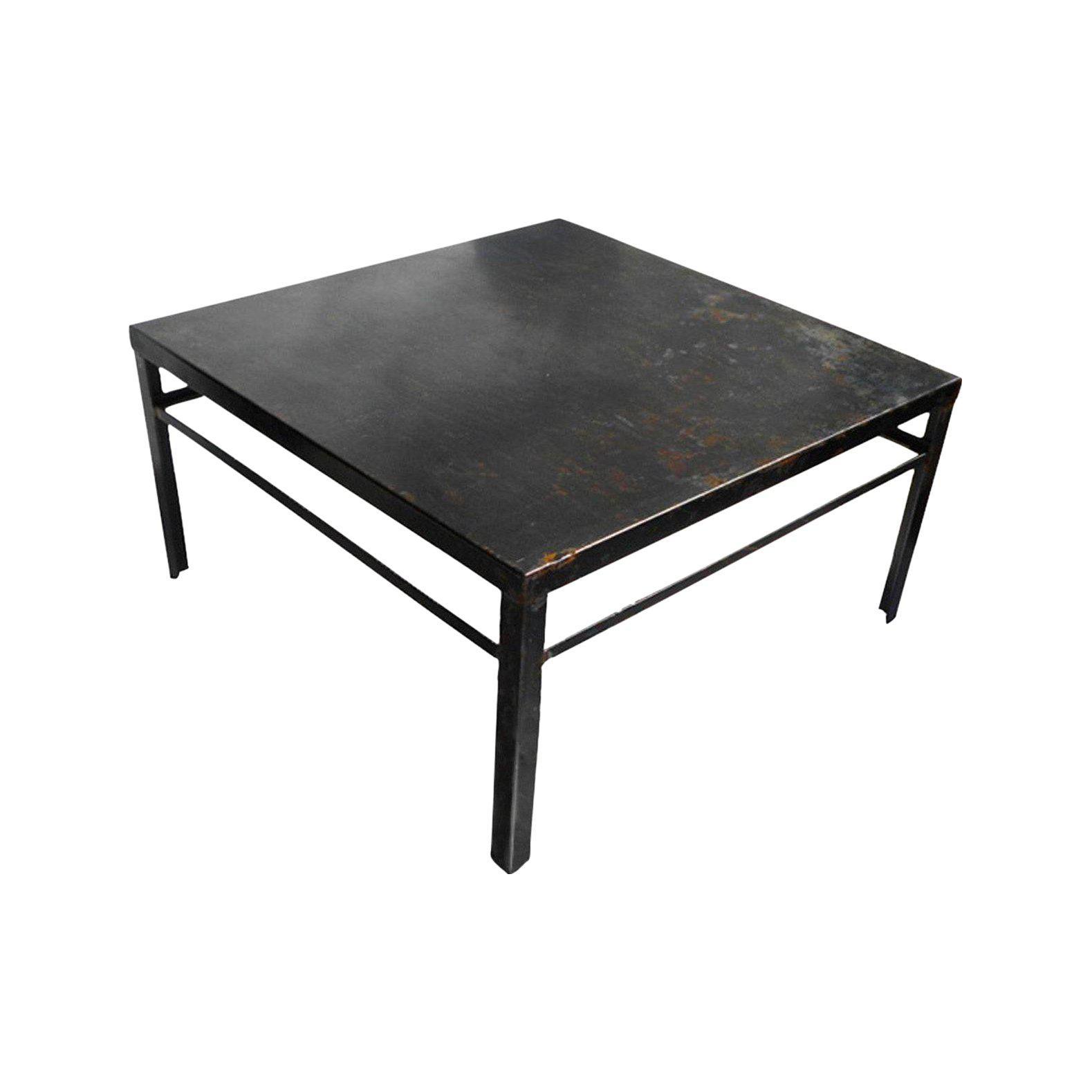 Contemporary Kishani Perera For Rummage Bremen Zinc Cocktail Table    Chairish