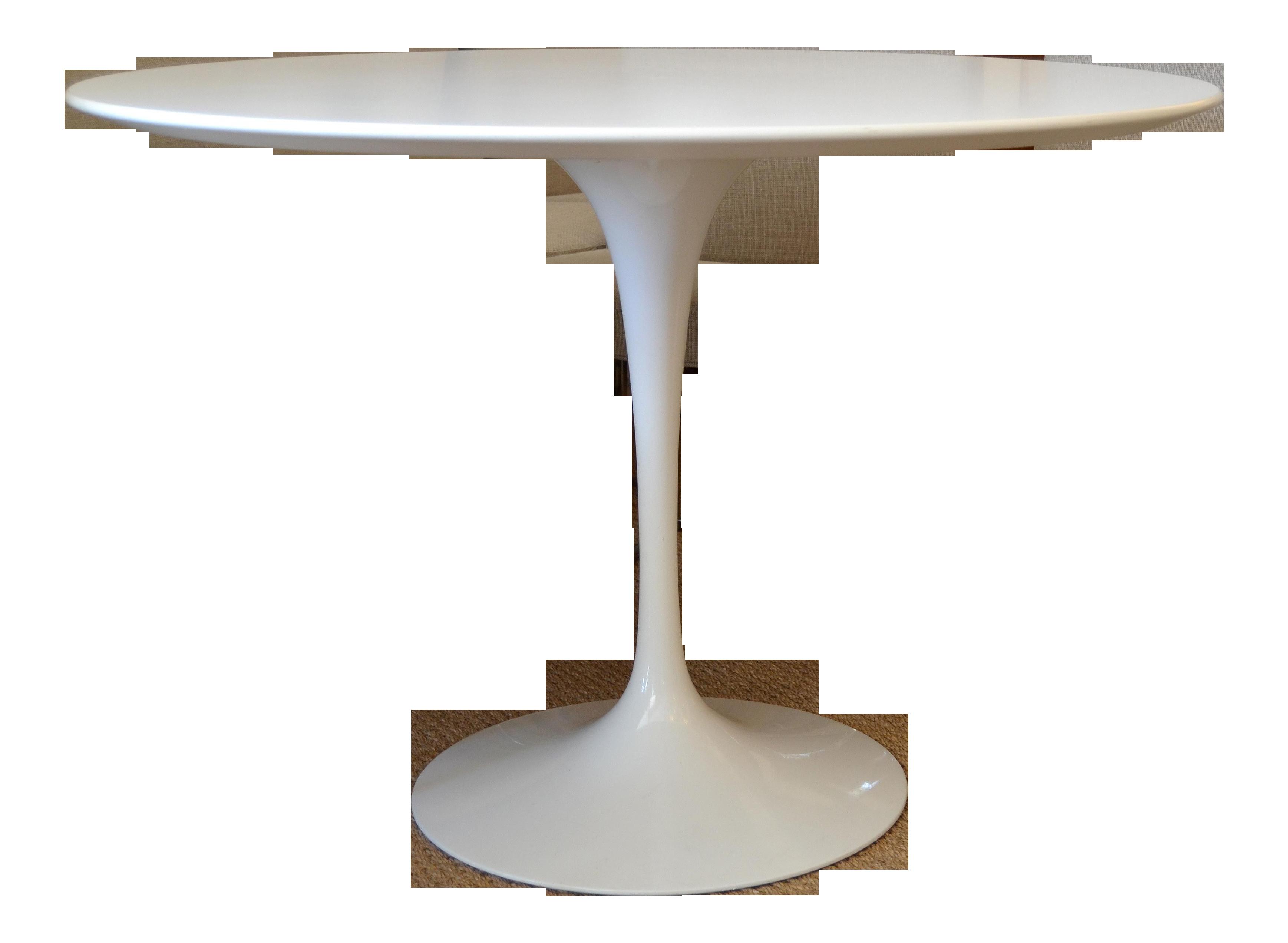 Delicieux Original Eero Saarinen Round Antique White Laminated Tulip Dining Table  Knoll