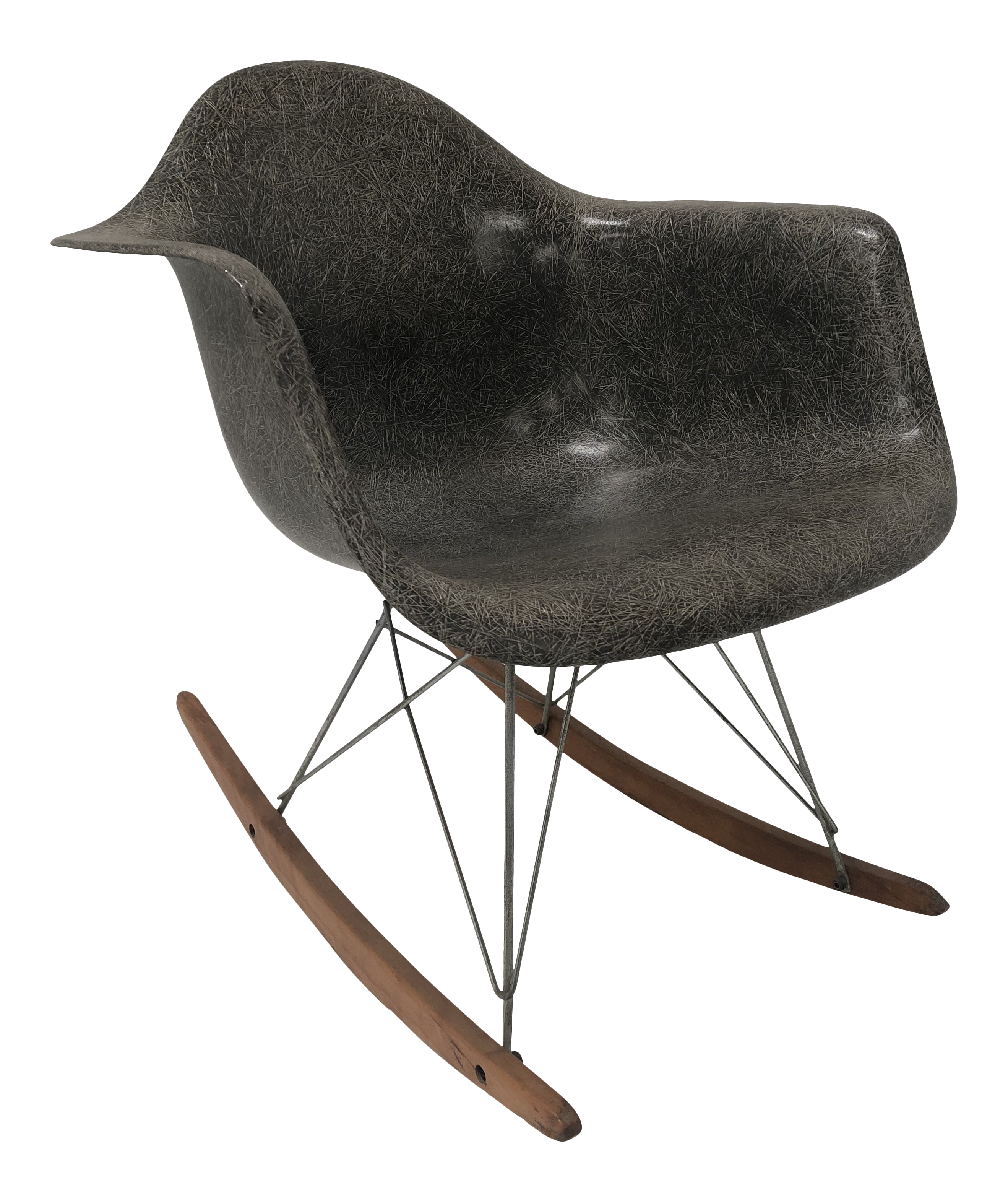 Magnificent 1950S Vintage Charles And Ray Eames Rocking Chair Machost Co Dining Chair Design Ideas Machostcouk