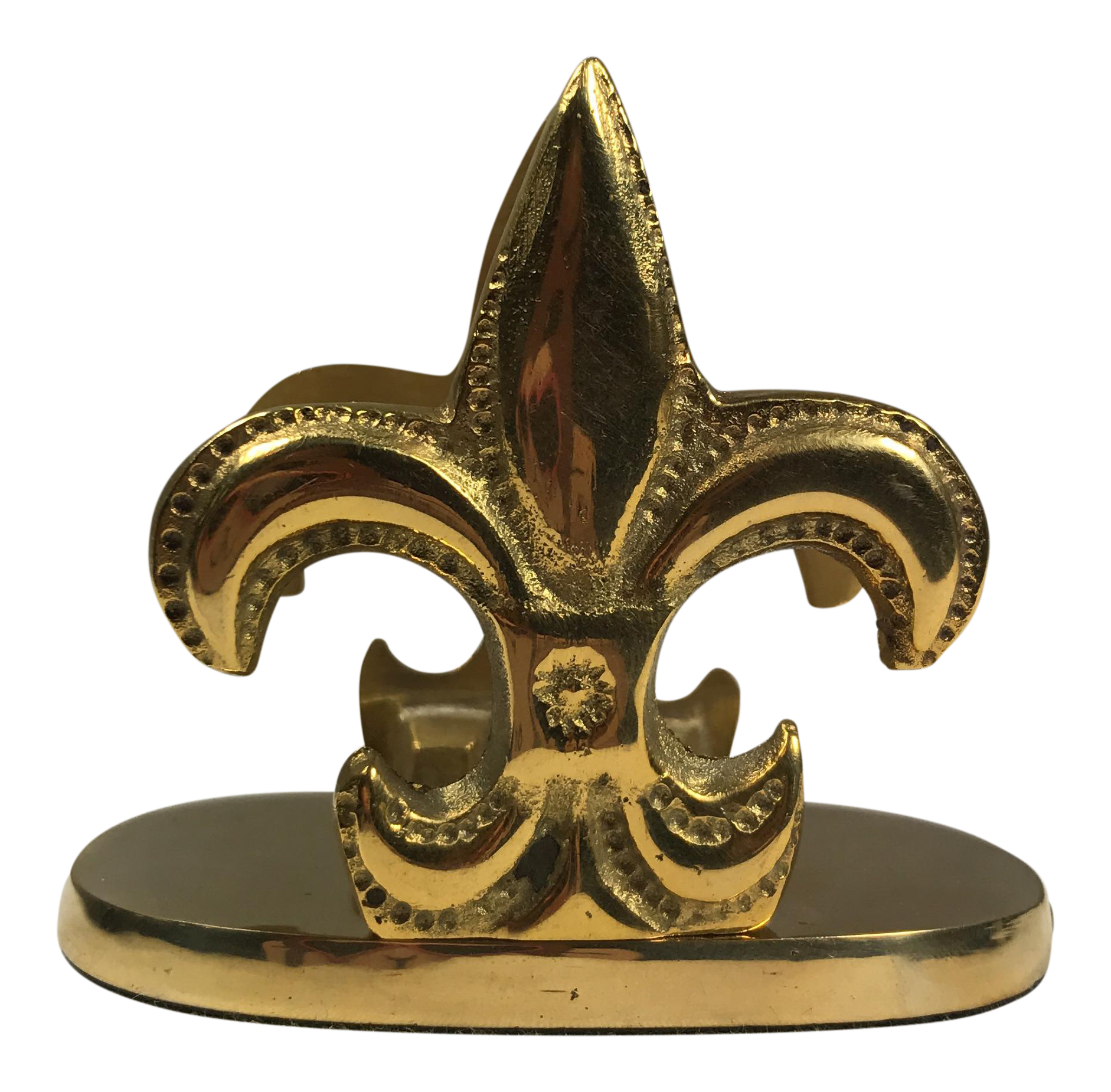 Brass Fleur De Lis Letter Holder | Chairish