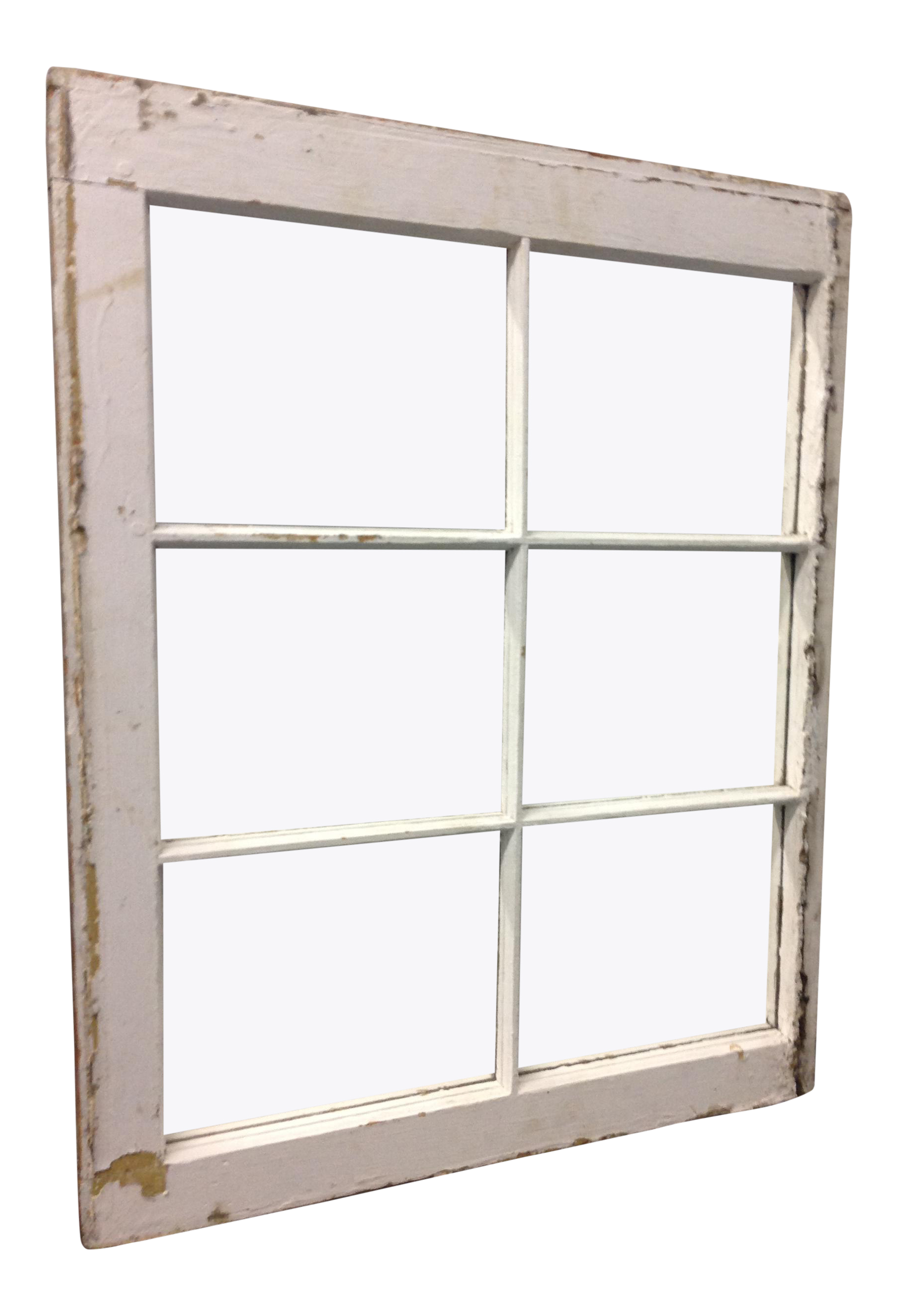 Vintage 6 Pane Window Frame Mirror