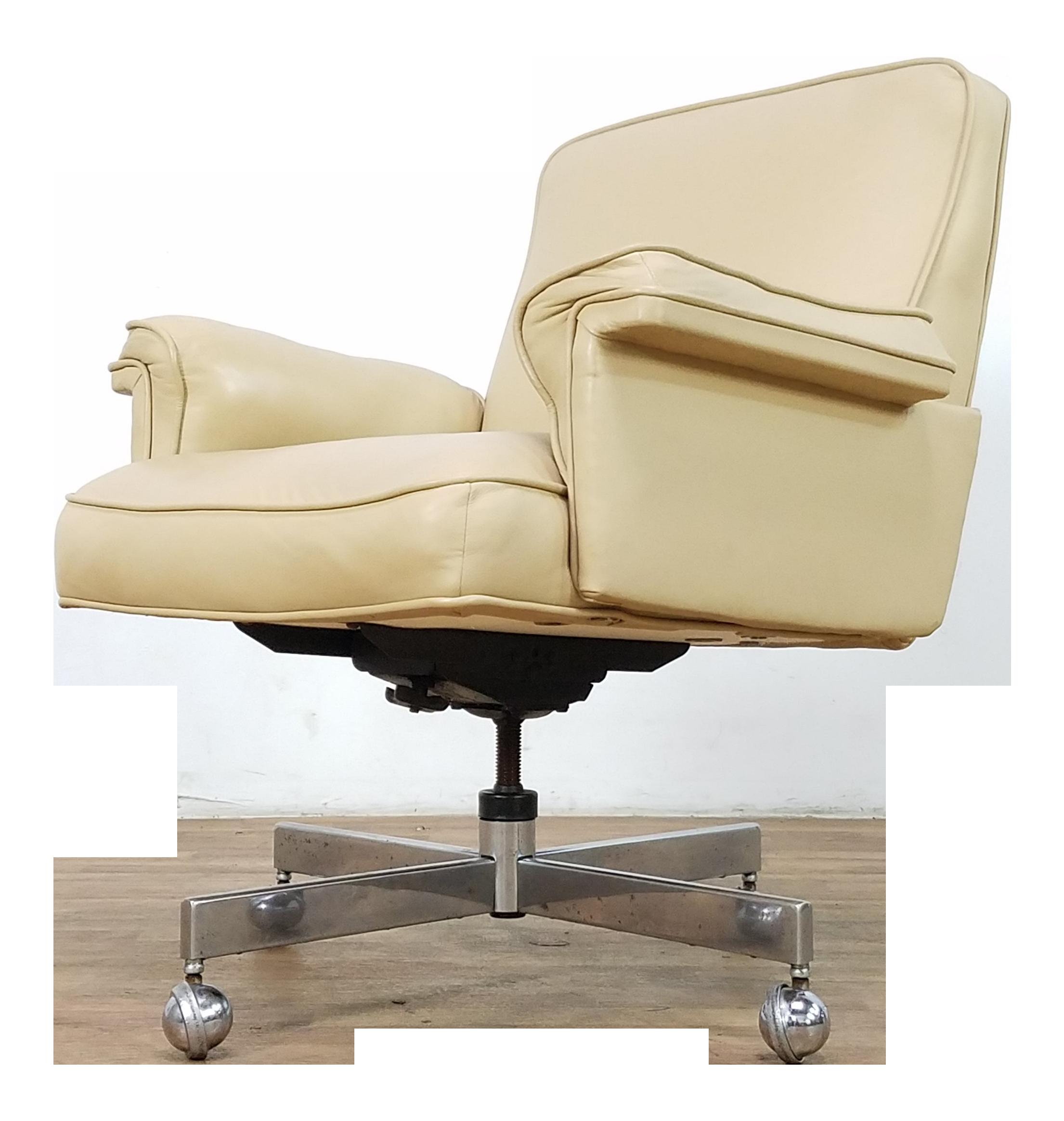 Enjoyable Mid Century Doerner Faultless Leather Office Chair Creativecarmelina Interior Chair Design Creativecarmelinacom
