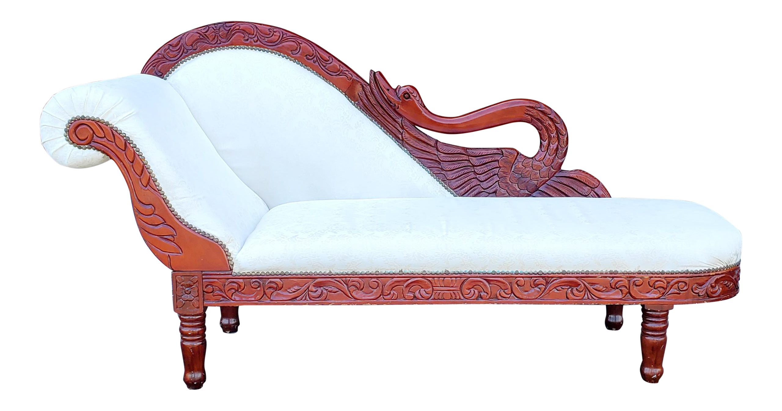 - Vintage White Chaise Lounge Chairish