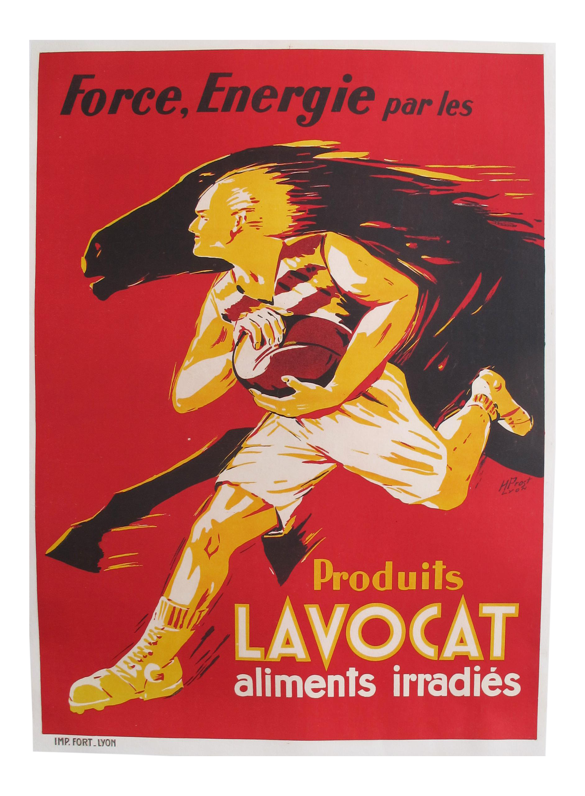 1930s French Vintage Food Poster Produits Lavocat Chairish