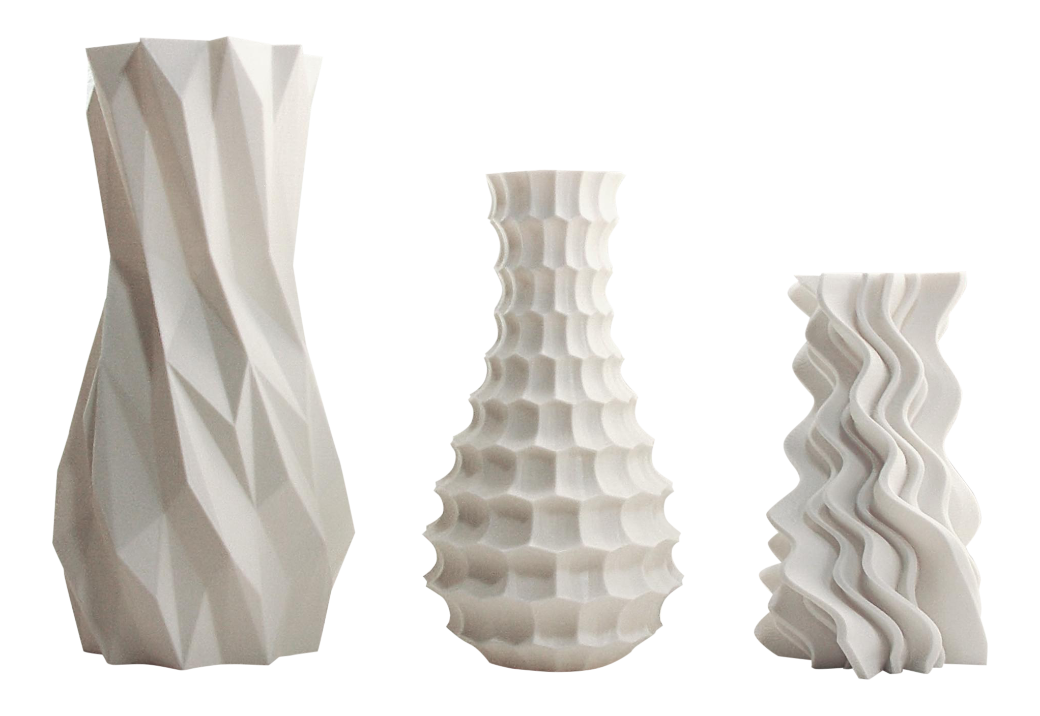 wave pin vase printed by step zampik