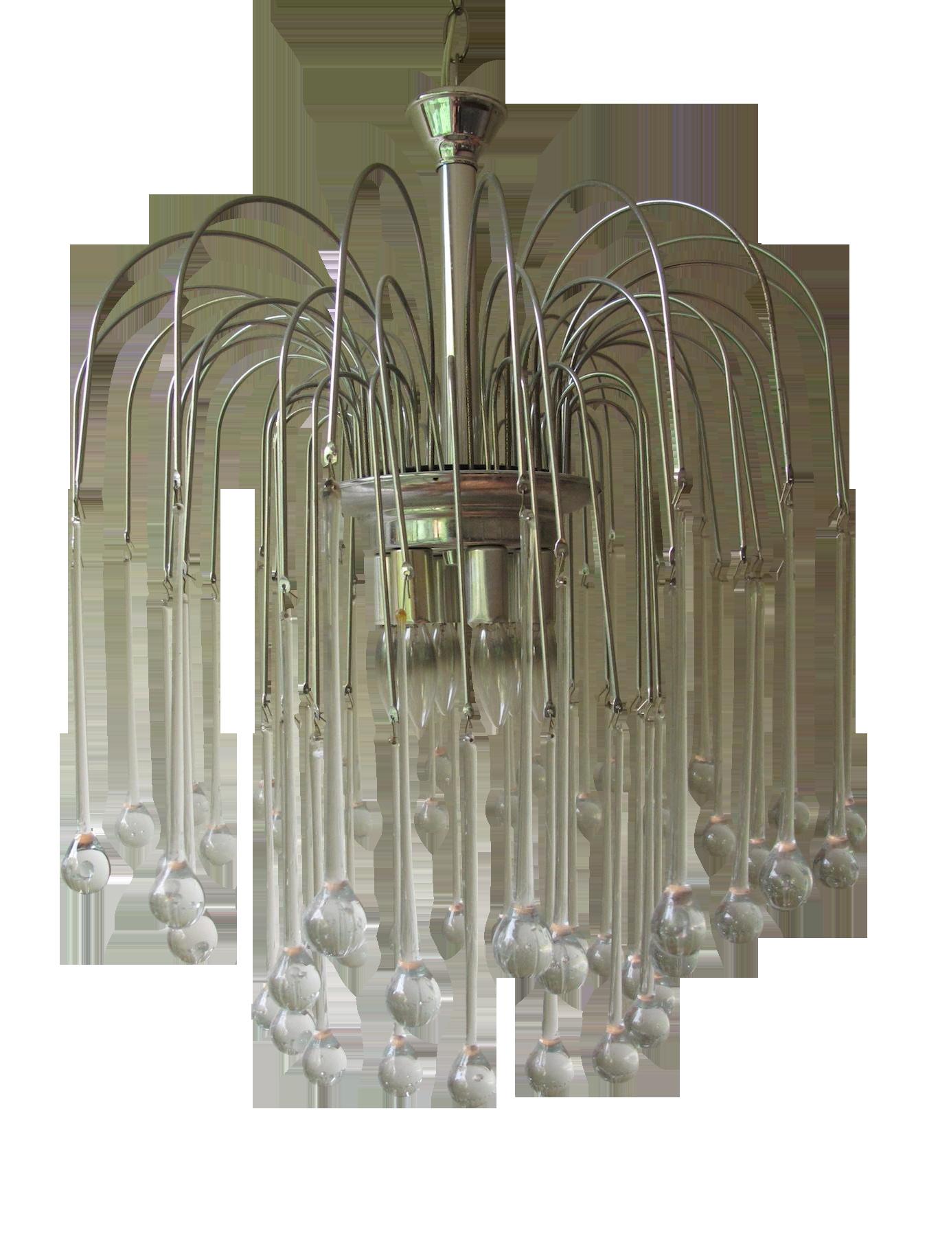 1960s modern teardrop italian chandelier chairish aloadofball Choice Image