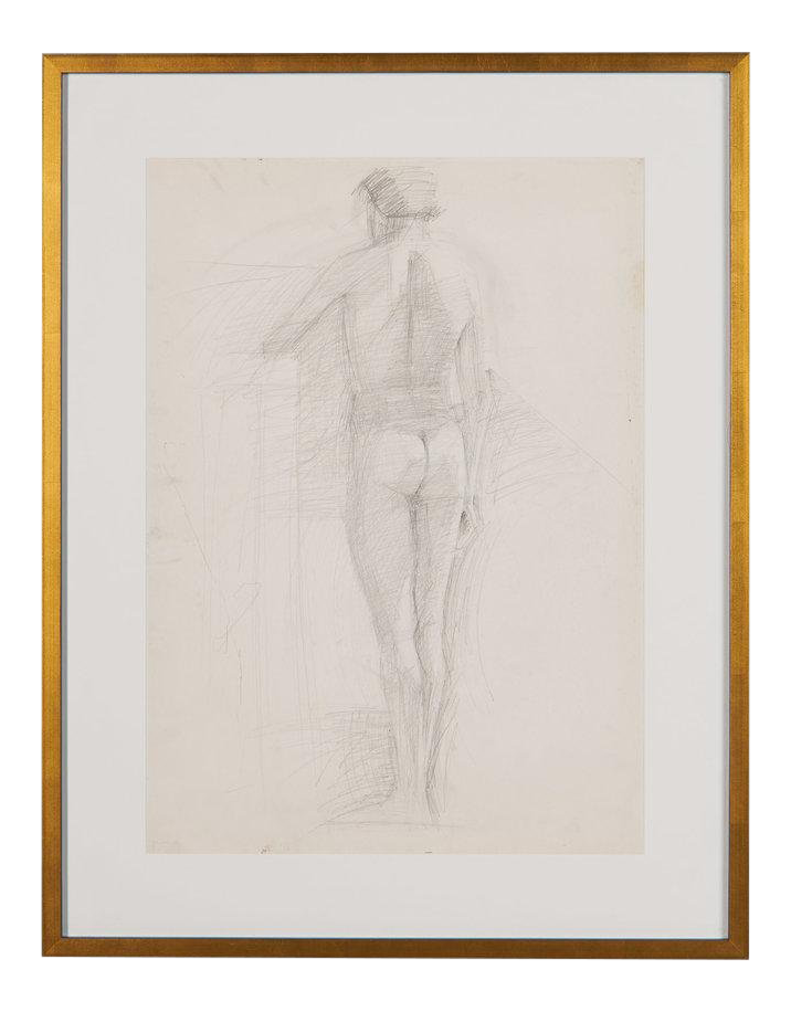 Vintage Figure Sketch Ix Greece Chairish