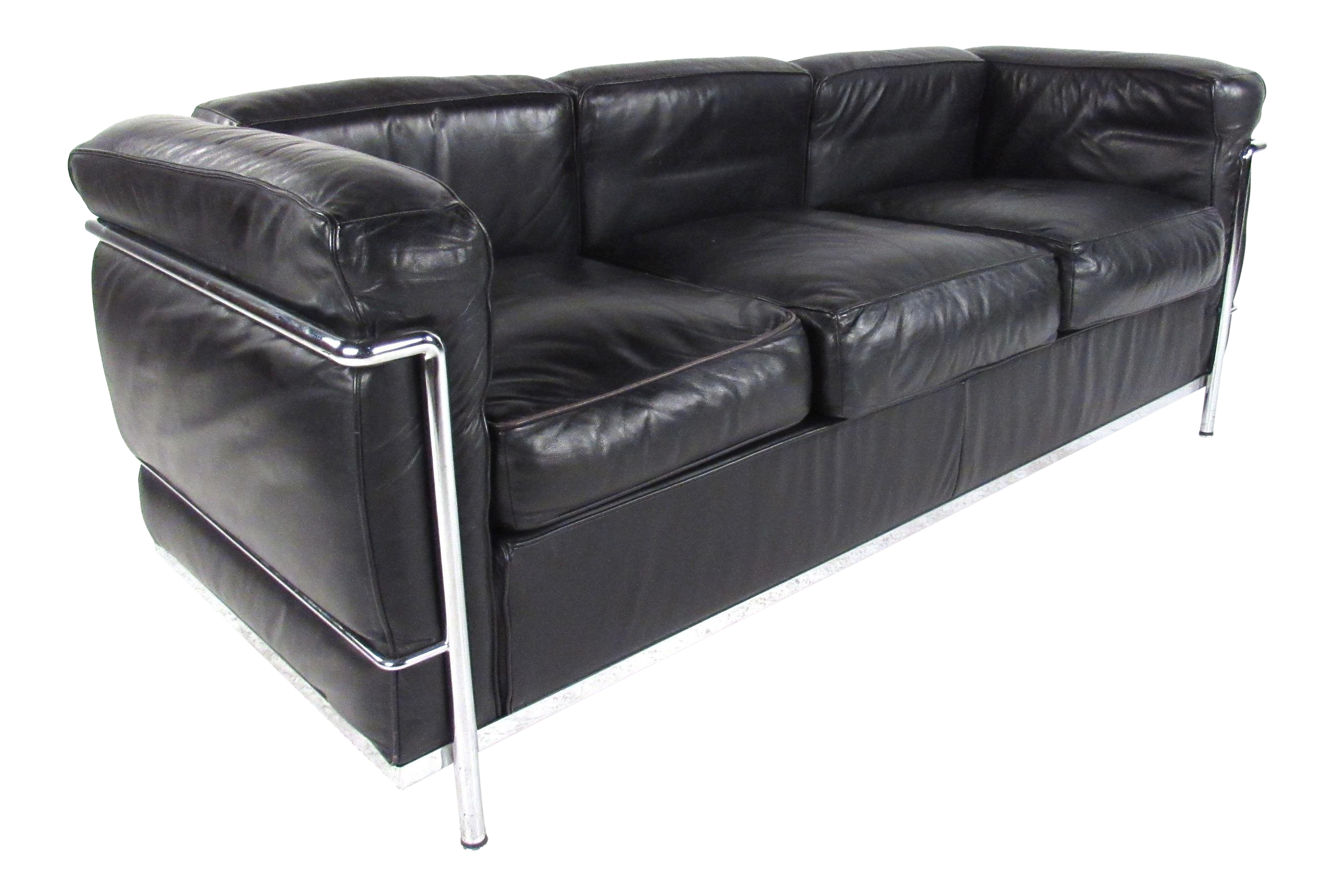 Le Corbusier Lc Leather and Chrome Living Room Set for Cassina ...