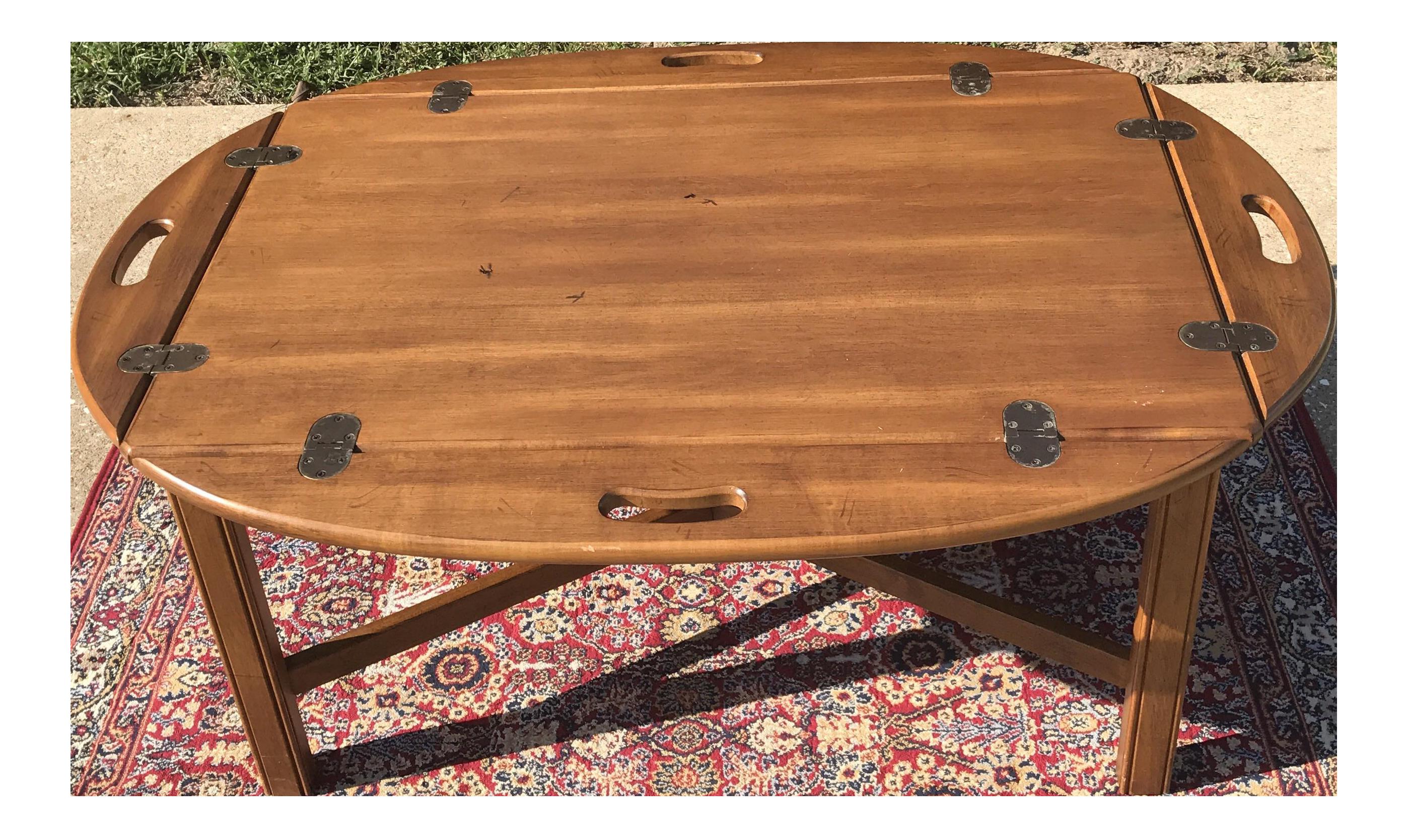 Vintage Ethan Allen Butler s Tray Coffee Table