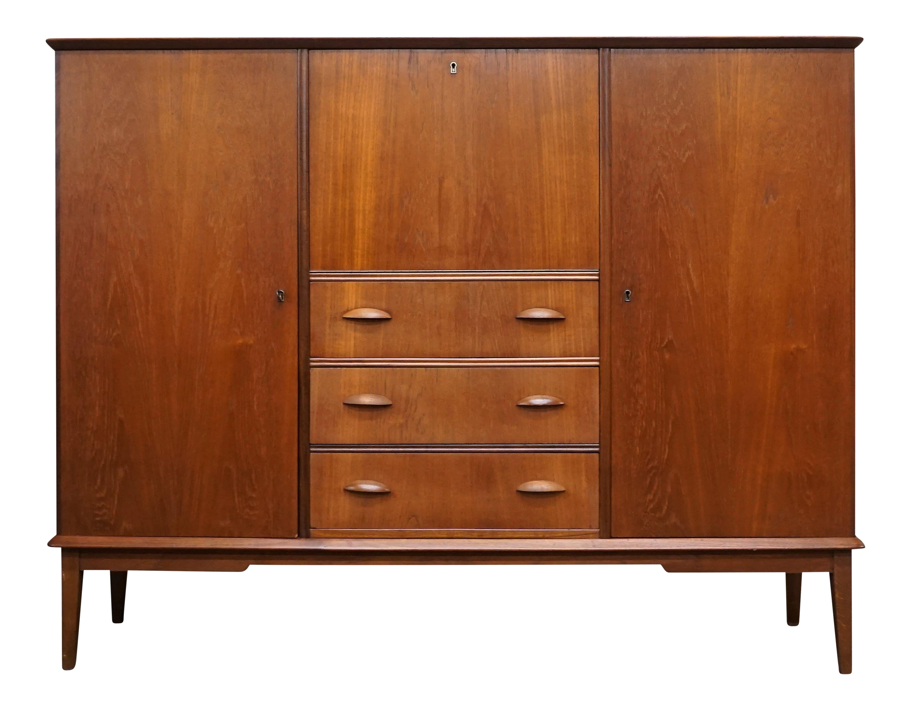 Danish Teak Credenza For Sale : Danish mid century teak credenza kunoy chairish