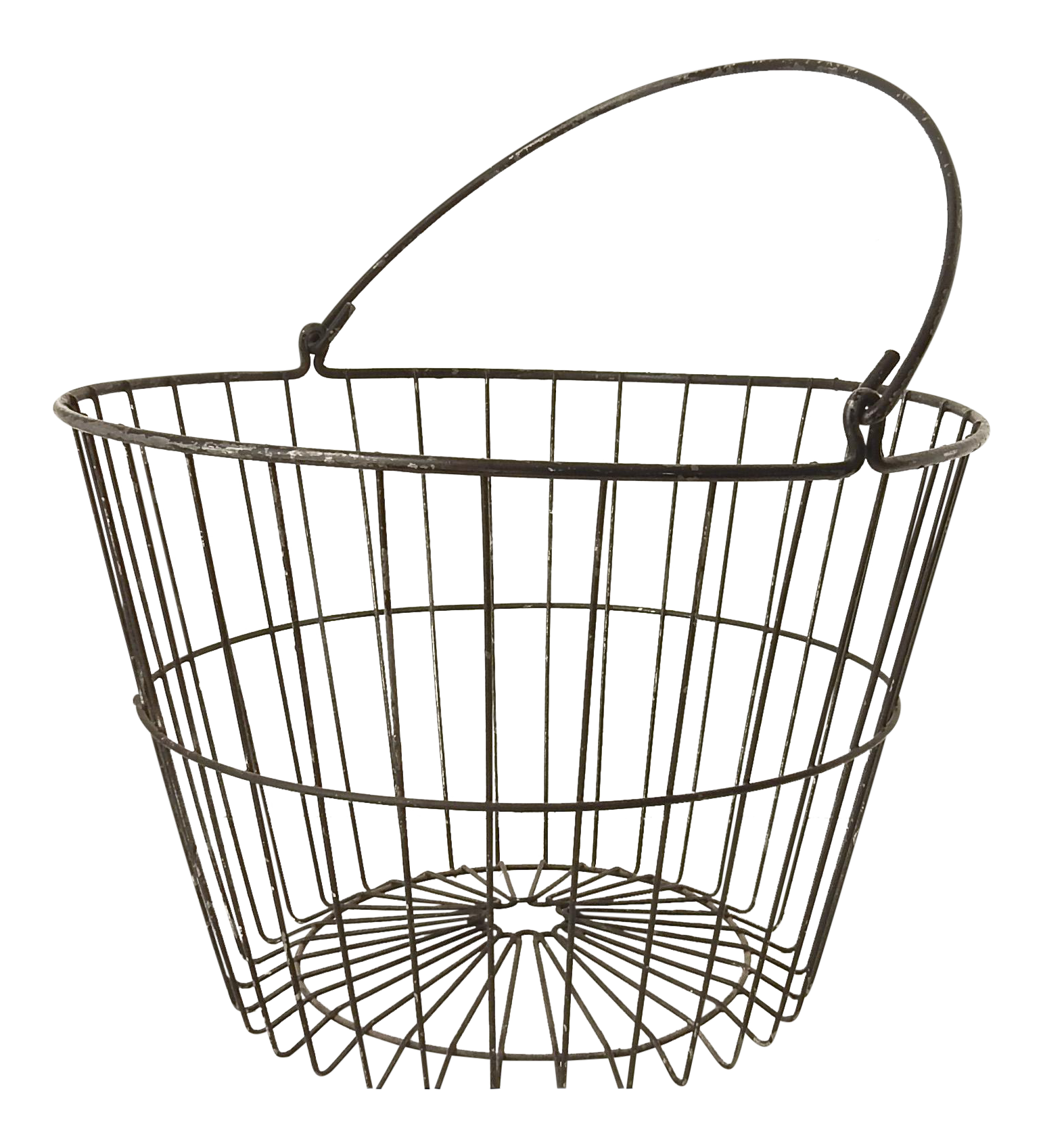 Rustic Industrial Wire Egg Basket   Chairish