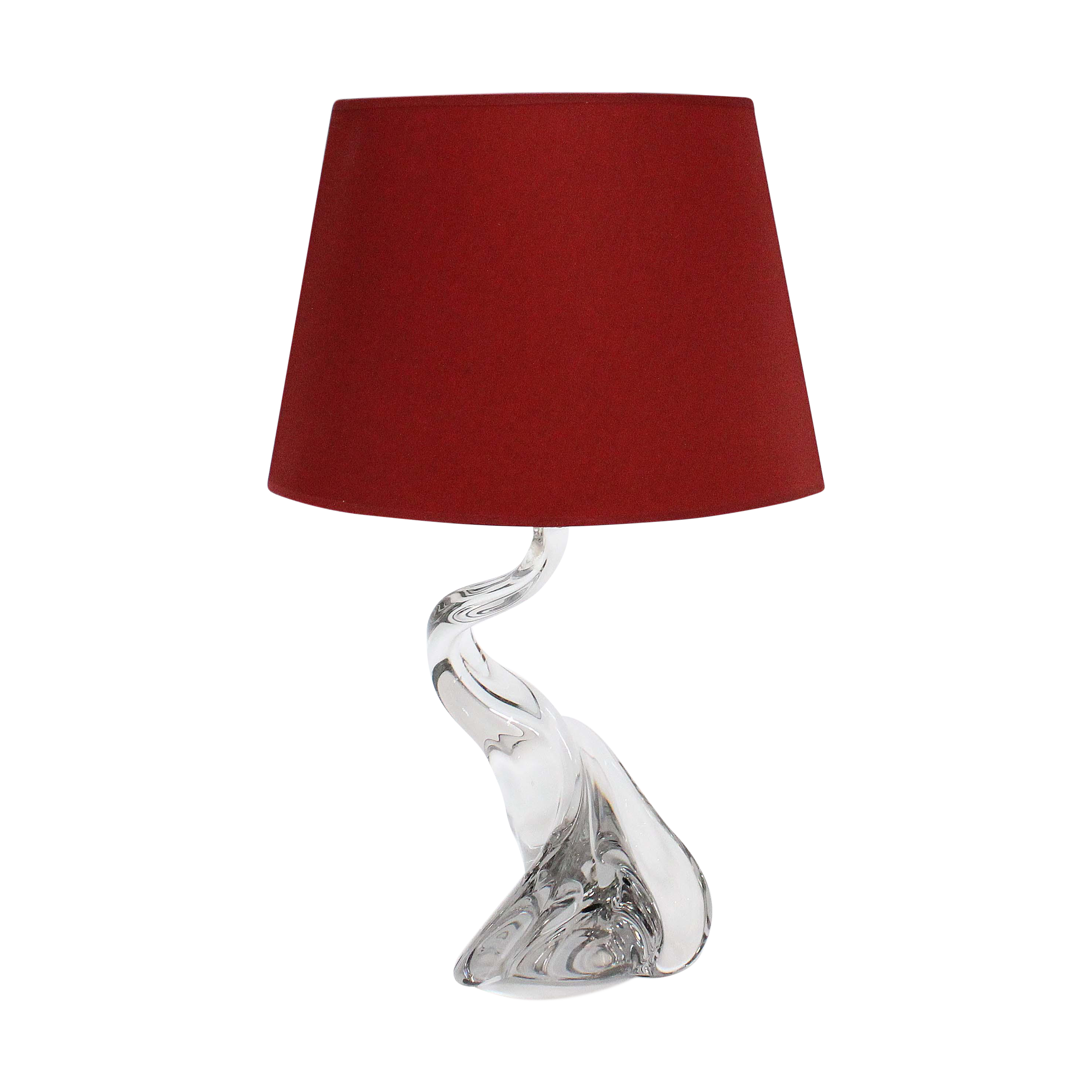 Val st lambert free form clear table lamp chairish mozeypictures Gallery