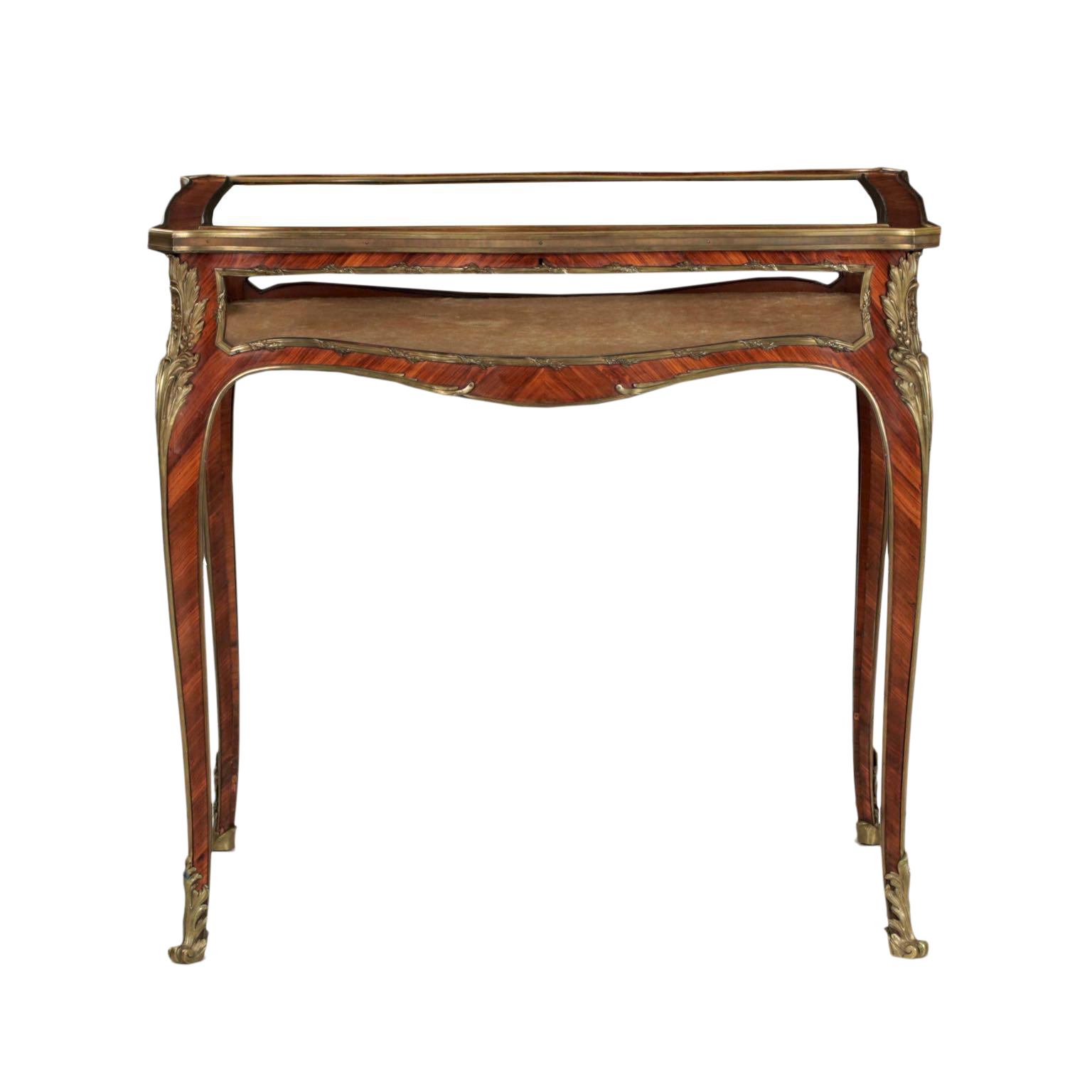 19th Century French Antique Bronze Side Table w/ Vitrine Display Case - Vintage & Used Cabinets For Sale Chairish