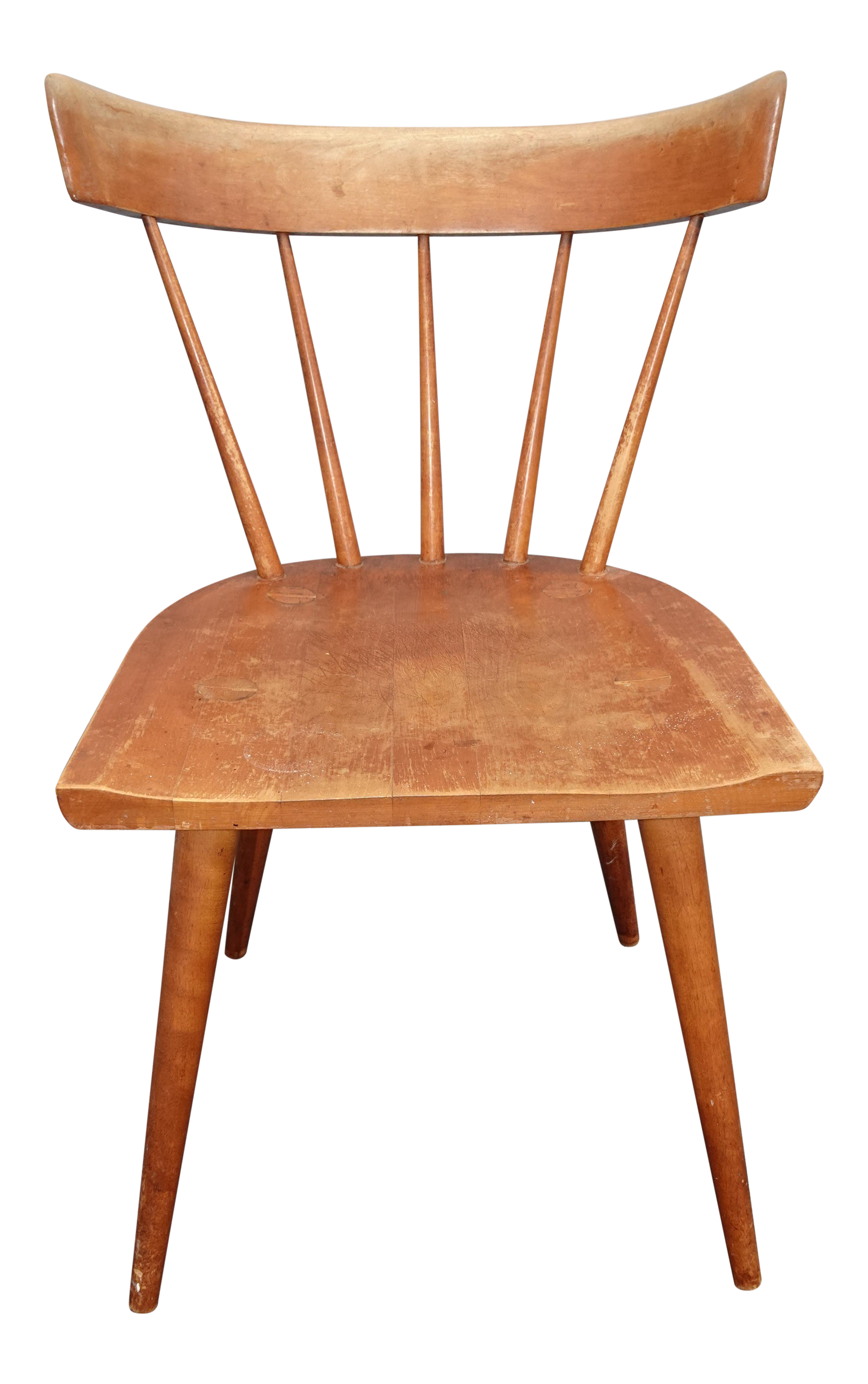 Vintage Mid Century Modern Paul Mccobb Planner Group Chair W Spindle Backrest 1