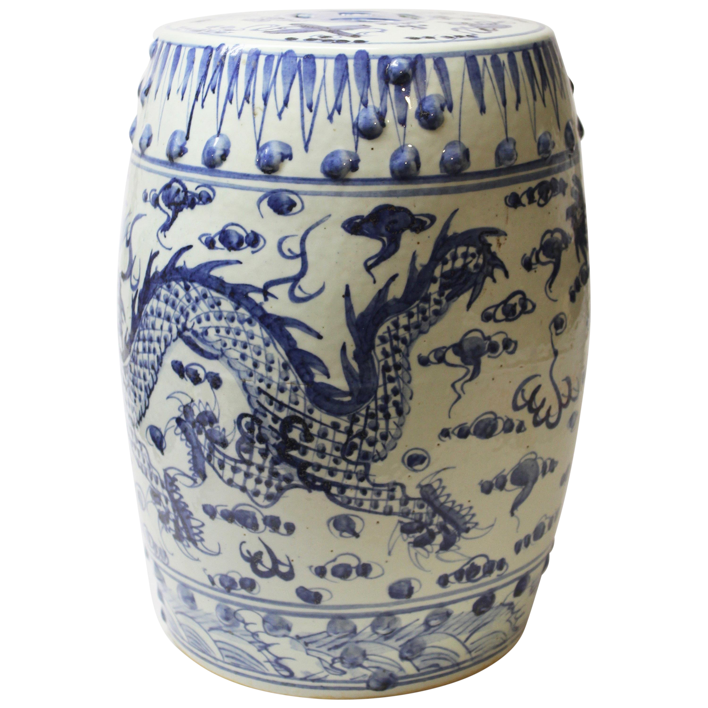 Strange Chinese Blue And White Ceramic Garden Stool Andrewgaddart Wooden Chair Designs For Living Room Andrewgaddartcom