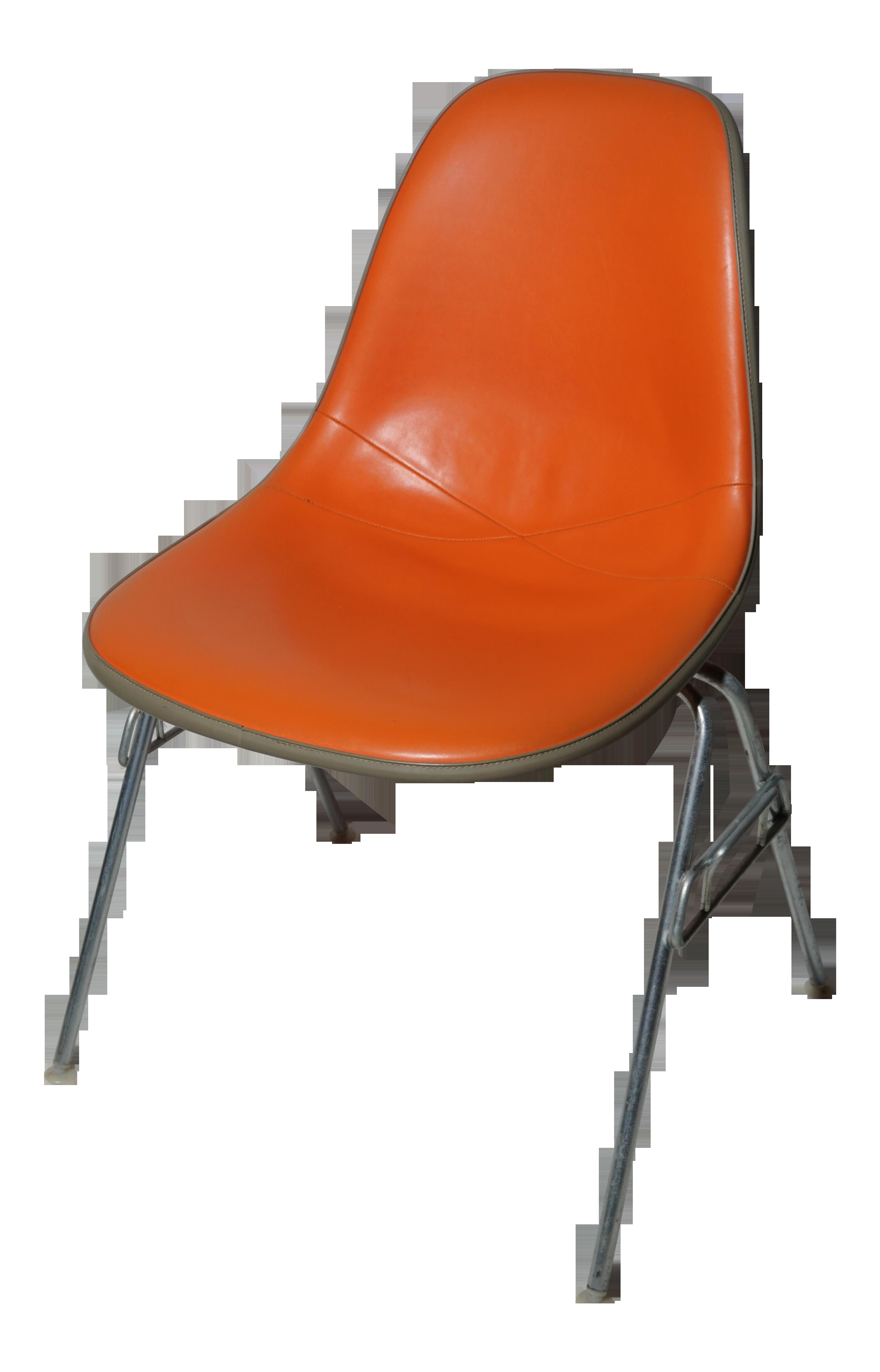 Vintage Herman Miller Chairs >> Herman Miller Eames Vintage Dss Orange Chair
