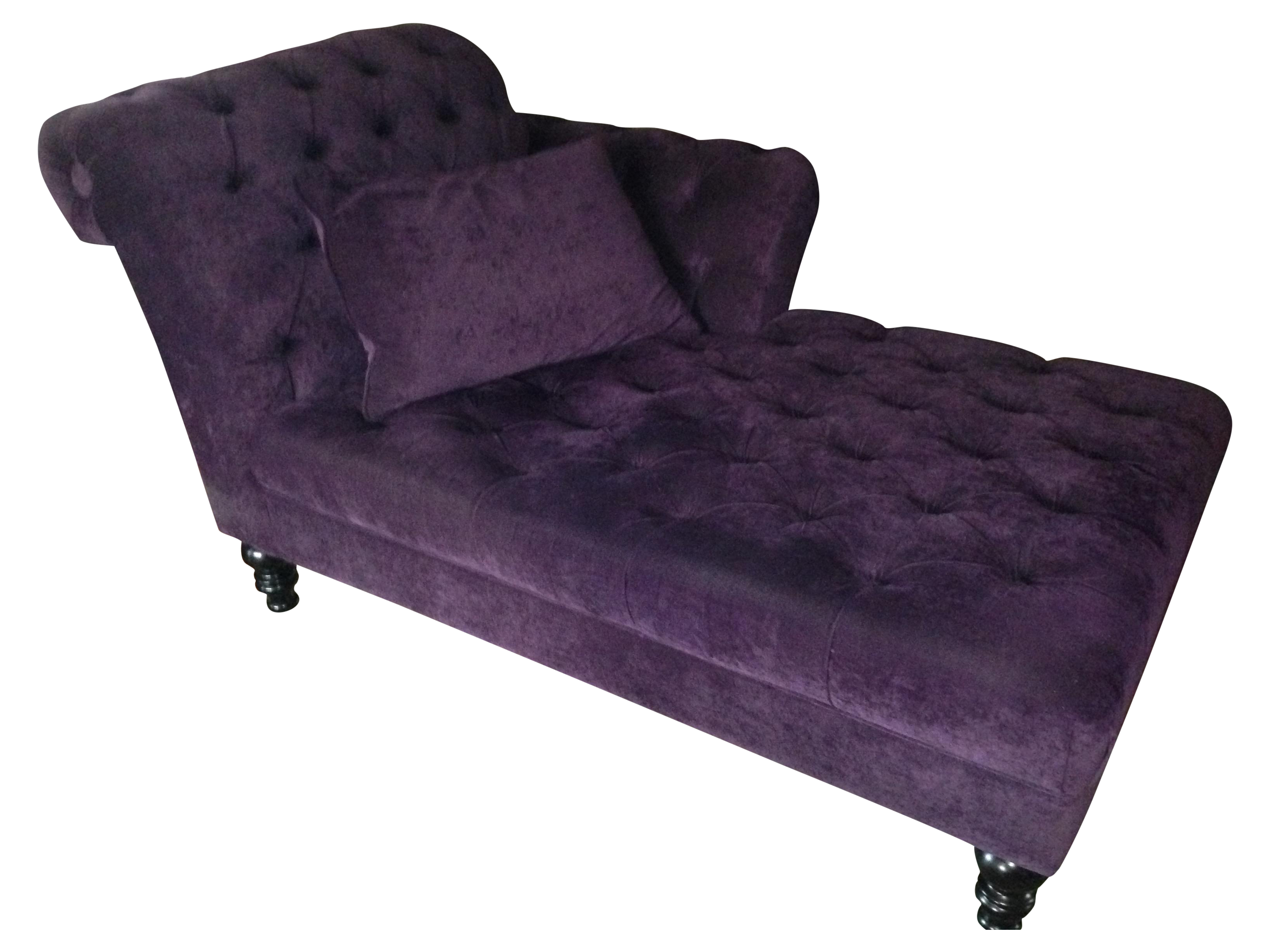 chairish chaise lounge futon futons lounger product velvet purple
