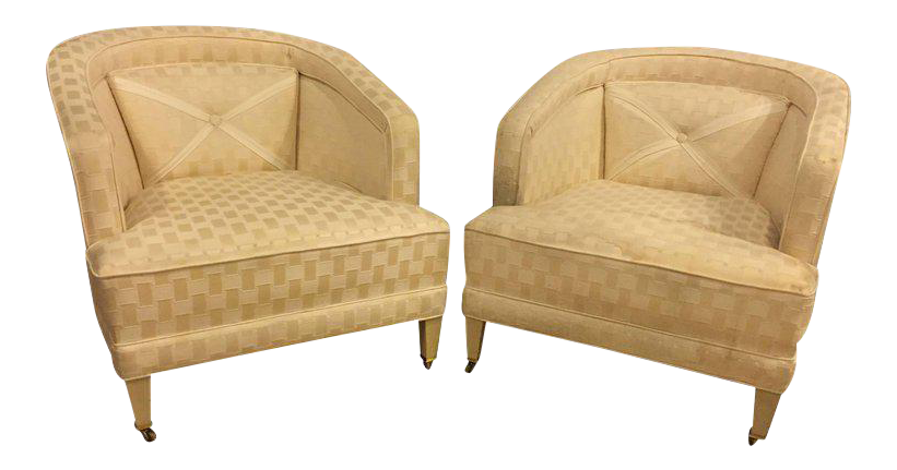 Lovely Hollywood Regency Dorothy Draper Style Lounge Chairs   A Pair |  DECASO