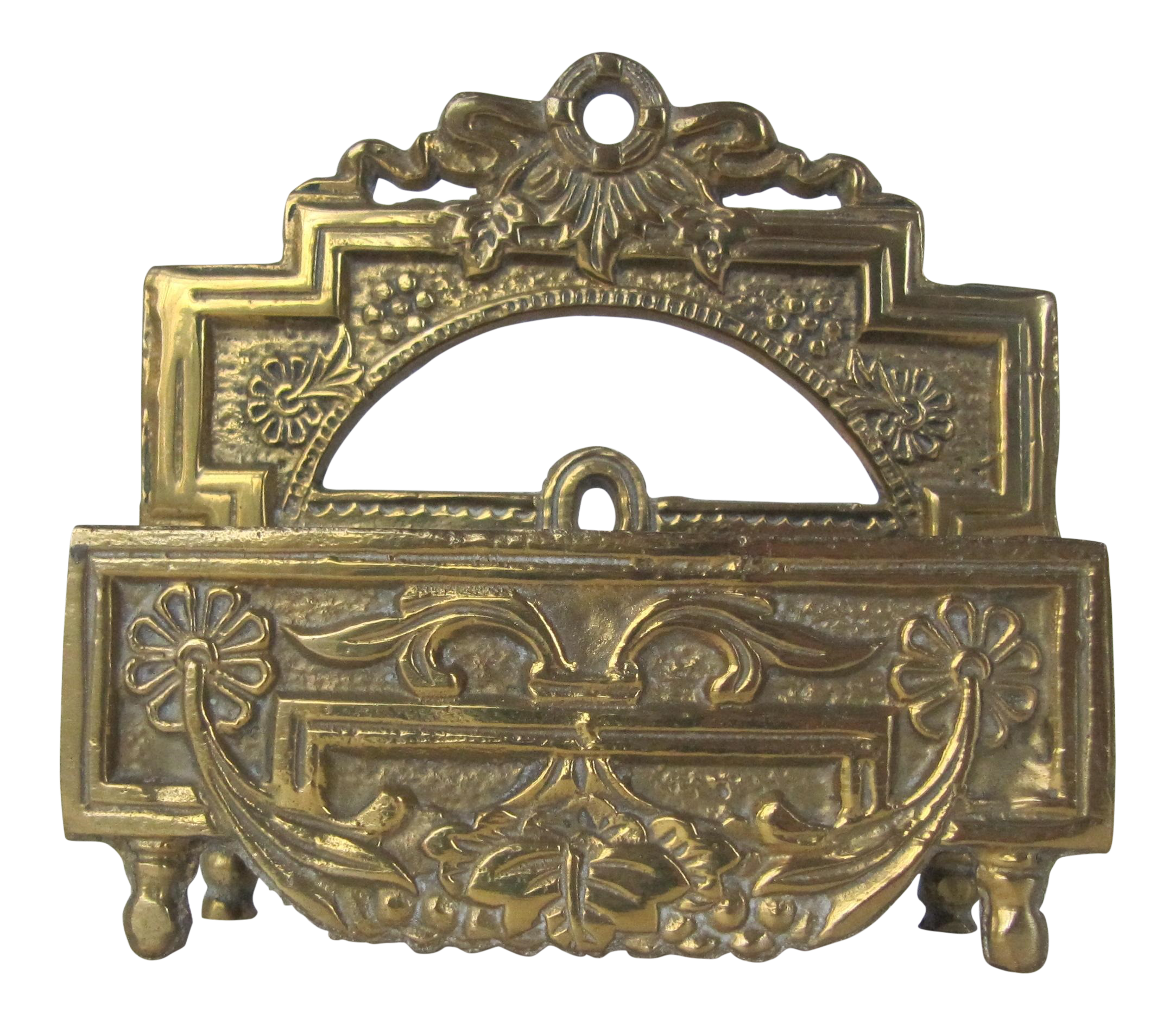 Vintage Brass Business Card Holder | Chairish