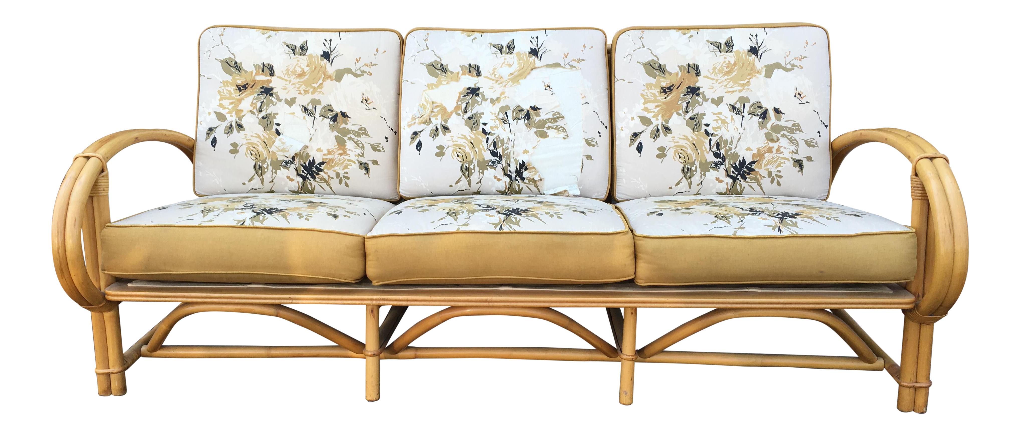 Admirable Vintage Ficks Reed Co Vintage Rattan Sofa Caraccident5 Cool Chair Designs And Ideas Caraccident5Info