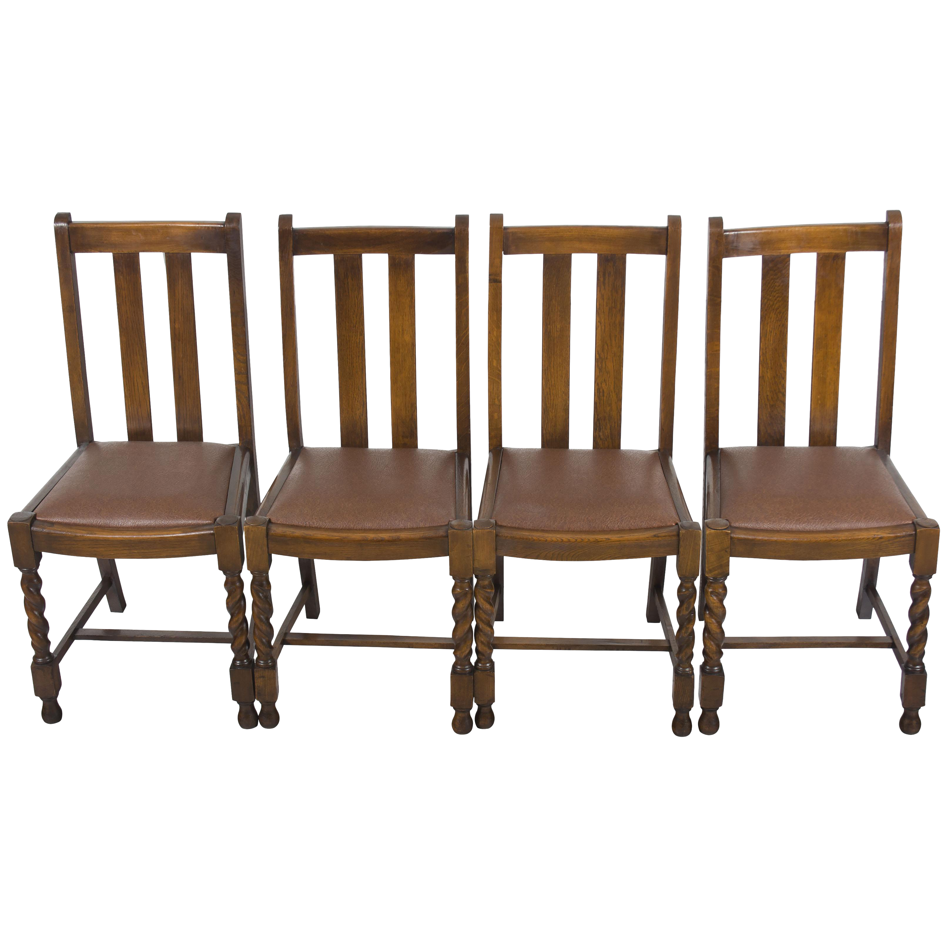 Super 1940S Vintage Barley Twist Dining Room Or Kitchen Chairs Set Of 4 Pabps2019 Chair Design Images Pabps2019Com