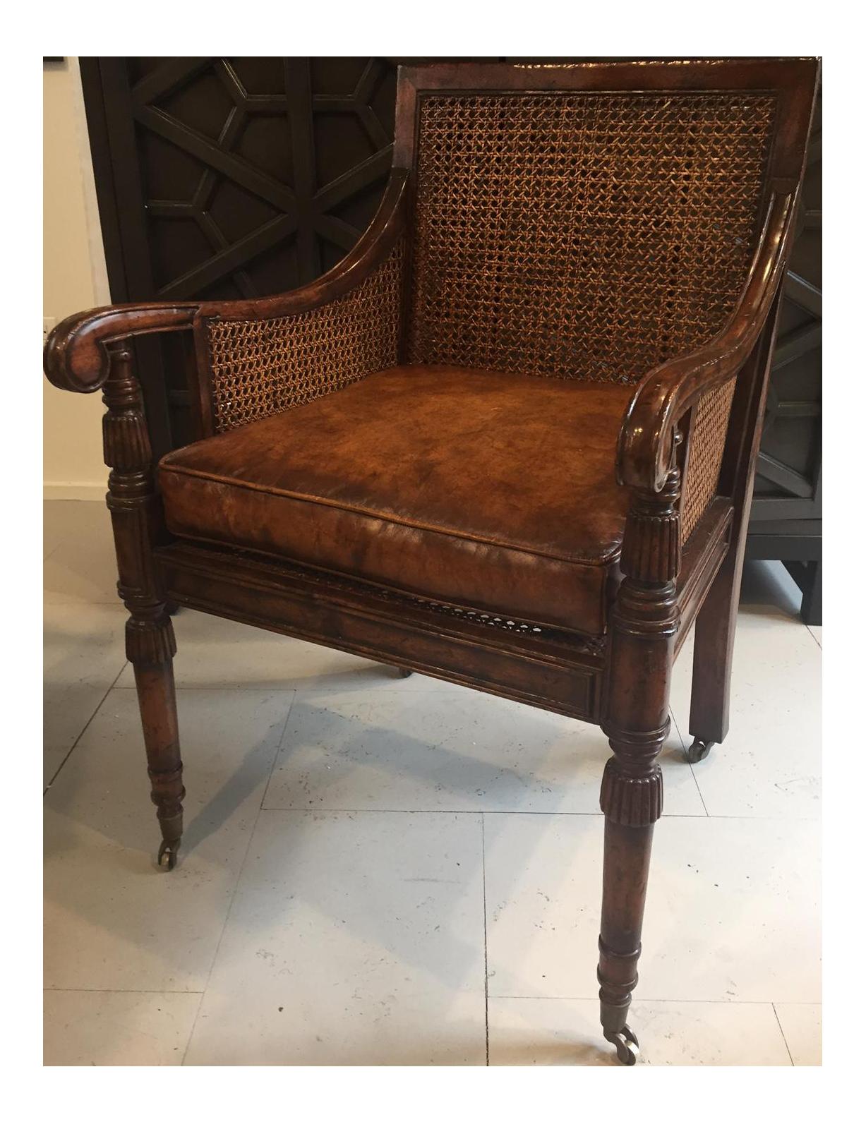 - Antique Mahogany Cane-Back Chair Chairish