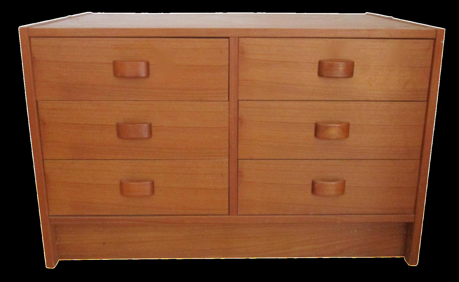 Mid Century Modern Danish Teak Domino Mobler Dresser Nightstand Small Cabinet Jewelry