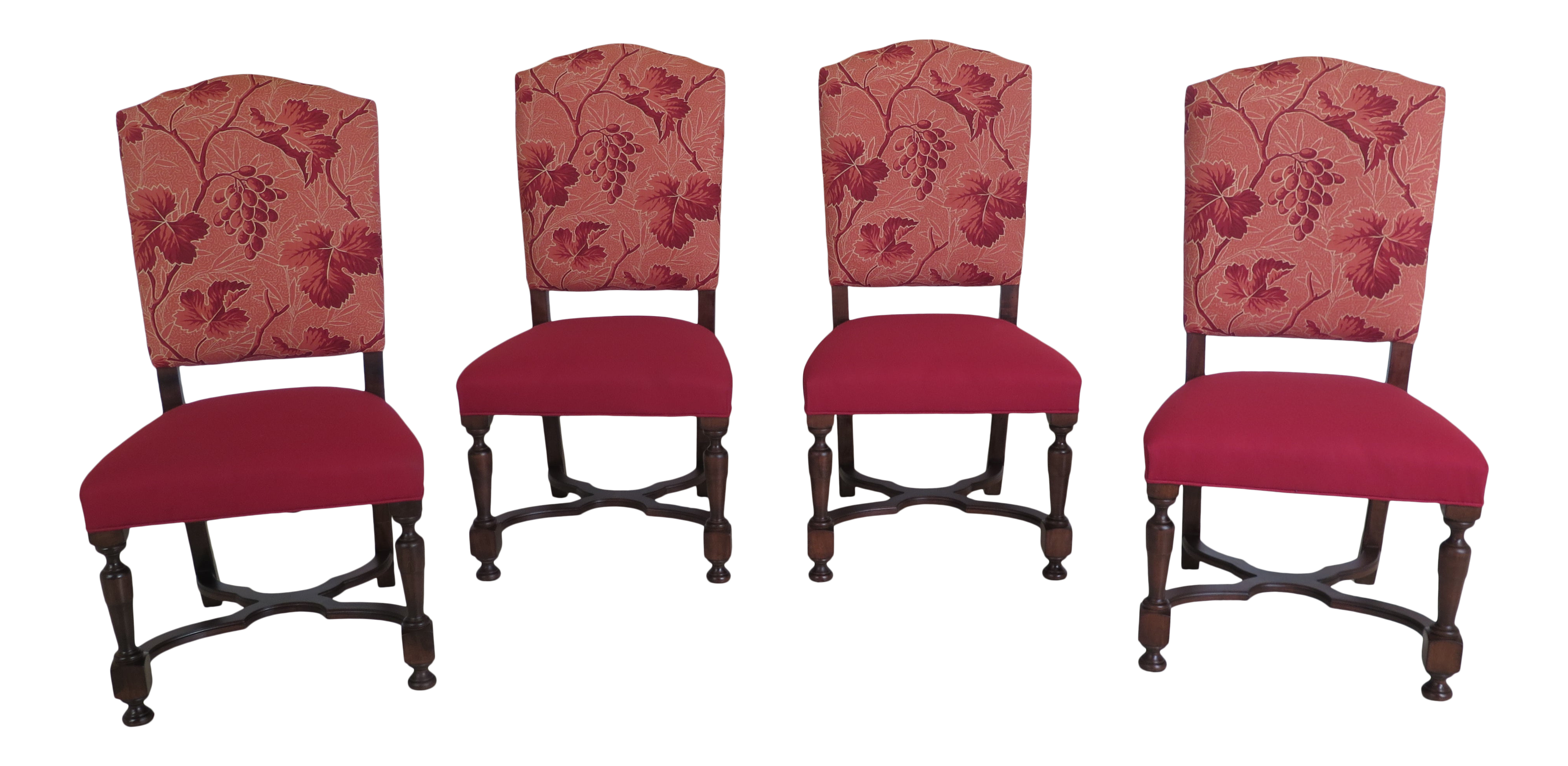 Picture of: Set Of 4 Hickory Chair Co Upholstered Dining Room Chairs Chairish
